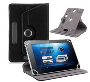 """Folio Leather Case stand Cover Fits Universal Android Tablet 7"""" 8"""" 9"""" 10"""" Black"""