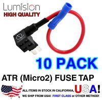 10 Micro2 ATR APT Pack Add-A-Circuit Lumision Fuse Tap Lot Dash Cam Radar DIY