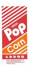 (1000) No.4 Printed Popcorn Bags 10"