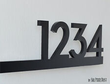 Modern House Numbers Acrylic - Contemporary Home Address -Sign Plaque - Door No
