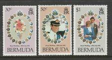 Bermuda 1981 Royal Wedding set SG 436-438 Mnh.