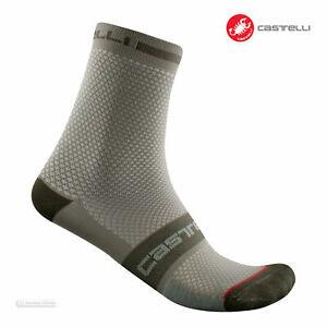 Castelli SUPERLEGGERA T 12 Lightweight Summer Cycling Socks, BARK GREEN L/XL