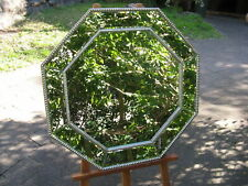 Art Deco Style Octagonal Bevel Glass & Wood Framed Mirror  78cm x 78cm