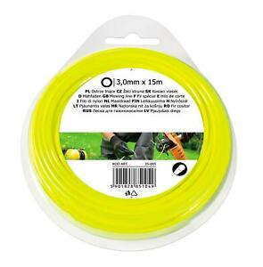 3.0mmx15m CIRCLE NYLON GARDEN HEDGE HAND GRASS STRIMMER TRIMMER LINE WIRE REFILL