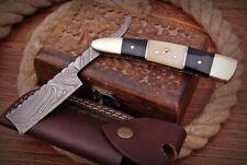 Handmade Wet Shave/Barber/Salon Damascus Steel Straight Razor - Cow Horn+ Bone