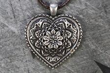 Collar corazón Mandala Colgante Plata Buda Budismo Tibetano de curación de amor