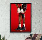 Jordan Kaws Poster w/ Red Background