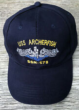 USS Archerfish SSN - 678 Ball Cap Embroidered US Navy Vet Submarine Veteran Hat