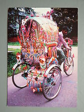 R&L Postcard: Rickshaw Tricycle, Painting from Bangladesh Dhaka, Cycling/Bike