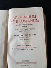 """ART.R260735""""BREVIARIUM AMBROSIANUM"""" PARS HYEMALIS II - FERRARI- MONTINI - ED DAV"""