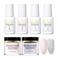 6Pcs/Set BORN PRETTY Dipping Powder Glitter Nail Art Dip Liquid Pro Starter Kit