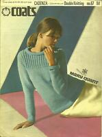 VINTAGE KNITTING PATTERN 1960'S JUMPER DESIGNED BY MARY QUANT