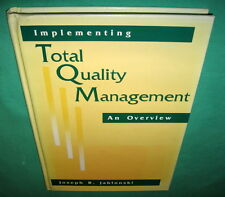 Implementing Total Quality Management An Overview Joseph Jablonski 1991 Hardback