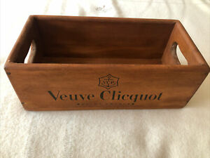 Open wooden box with Veuve Clicquot written on the side - Brand new.
