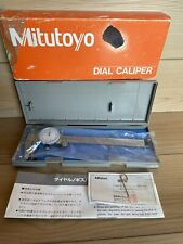 Mitutoyo 0 8 Dial Caliper Stainless Hardened Shock Proof 505 644 50 With Case
