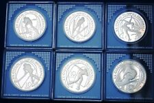 Italy Torino Olympics Complete Set of 6 5€ & 10€ Silver Proof Coins 2005