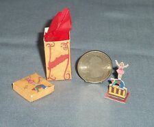 Dollhouse MINIATURE Circus Acrobate Figurine Toy Doll & Box Paper Handcrafted