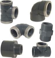 PVC Gewinde Muffe, Winkel, T-Stück, PVC, Gewinde Fittings, Verschraubung