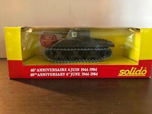 Solido  série limitée 40e anniversaire du 6 juin 1944-1984 char SHERMAN