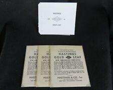 "Brand New Sealed 25 Hastings 23K Gold Leaf Booklet 3 3//8/""X3.3//8/"""