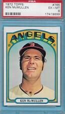 1972 TOPPS BASEBALL CARD HIGH #765 KEN McMULLEN GRADED PSA EX-MT ANGELS SKU 9899