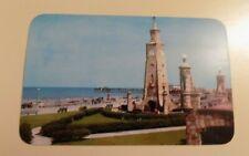 DAYTONA BEACH FLORIDA VINTAGE POSTCARD - CLOCK TOWER AND BOARDWALK ON ATLANTIC
