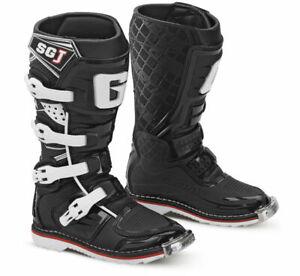 Gaerne Youth SGJ SG-J MX ATV Offroad Motocross Racing Boots White Black/Orange