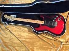 1980's Schecter Stratocaster Rare Candy Apple Red,Maple Neck,Fender Case VG Cond
