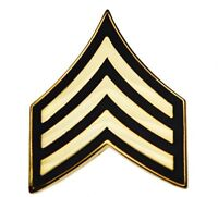 US Army Sergeant E-5 Rank Stripes Hat or Lapel Pin H14426 D2