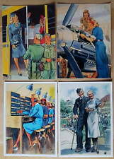 German SS Wehrmacht Luftwaffe world war 2 Frauen postcards x4 1943