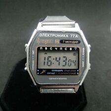 Digital Watch Elektronika 77A Melodies Calendar Alarm Signal Belarus USSR