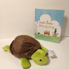 "Kohls Cares Turtle Plush Animal ""And Then It's Spring"" with Hardcover Book"