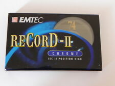 Cassette audio EMTEC CHROME IEC II 74 minuti lotto 10 musicassette vergini TAPE
