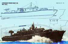 """Model Boat 1/24 Scale RCN 70ft. 35"""" High Speed Launch F/S Printed Plan & Article"""