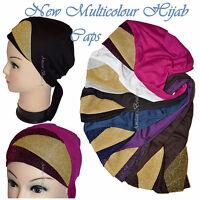 Eid Hijab Cap/Bonnet Shiny Under Scarf Glittery MultiColour 2 tone Viscose Hat