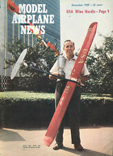 MODEL AIRPLANE NEWS DEC 1959 WYLAM STINSON Sr. SCALE DWGS_DH-88 COMET_VECO-35D_S