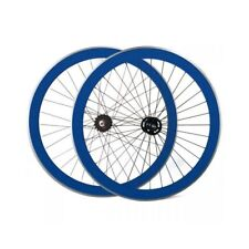 Set Roues Fixed 40 mm CNC Extra + Bleu Pignon Fixe Fixed Vélo
