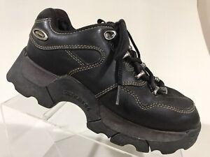 Vtg 90s Y2K Skechers Jammers Hikers Brown Chunky Club Rave Platform Sneaker 6.5
