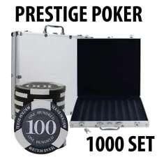 Prestige Poker Chips 1000 Poker Chip Set with Aluminum Case