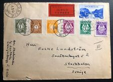 1944 Trondheim Norway Chemical Censorship Express Cover To Stockholm Sweden