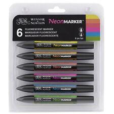 Winsor & Newton Neon Colors ProMarker Set  - 6-Color, Neon Colors