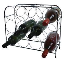 12 Bottle Metal Wine Bottle Rack Holder Stand Kitchen Bar Free Standing Storage