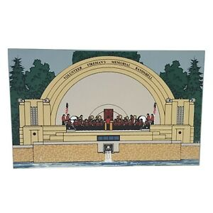 Volunteer Fireman's Memorial Band Shell Reading PA 1997 Hometowne Vintage Wood