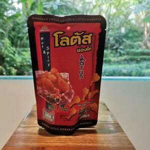 Best Thai Snack Lotus 50g. Chicken Leg Hot Spicy Crispy Yummy