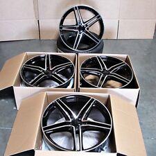 "Fits Mercedes AMG C S CLA CLK E Class 19"" Split 5 Spoke Black Machined Wheels"