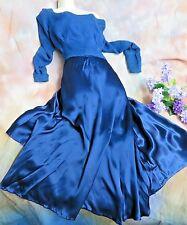 VINTAGE 1940 BIAS cut SILK satin DRESS skirt & top UNDERSKIRT repair restore