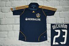Los Angeles LA Galaxy 2008-2009 Football Jersey Shirt Away Beckham size  S