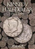 1985 -1999  KENNEDY HALF DOLLAR  COIN FOLDER  H. E. HARRIS / WHITMAN - NEW