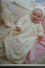 Christening Robe, Bonnet and Shoes Knitting Pattern