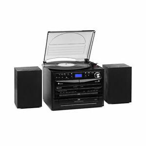 Stereoanlage DAB Digitalradio Plattenspieler Kassetten USB MP3 CD Player Boxen